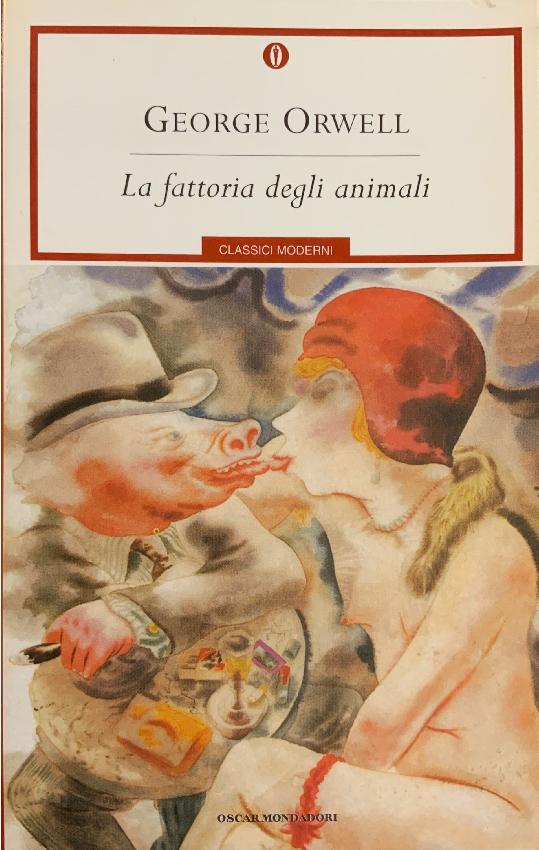 """Copertina del racconto breve """"La fattoria degli animali"""" di George Orwell del 1945"""
